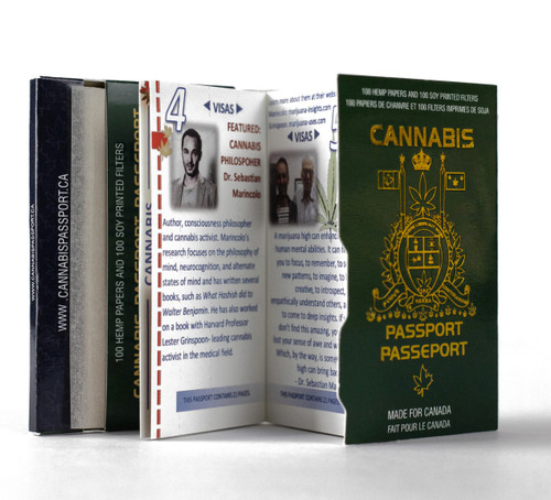 Cannabis Passport Rolling Paper Magazine - King Size