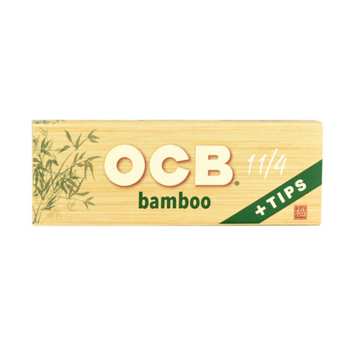 OCB Bamboo 1.25 + Tips Rolling Papers