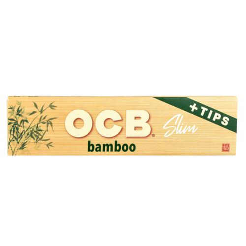 OCB Bamboo King Size Slim + Tips Rolling Papers