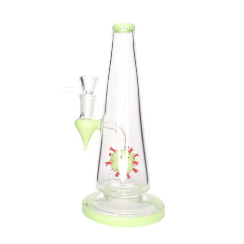 "8.5"" Genie Bottle with Molecule - Assorted Water Pipe Distributor Head Shop Distributor Smoke Shop Distributor UNS Wholesale"