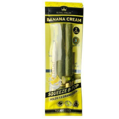 King Palm 2pk Mini - Banana Cream - Display of 20 UNS Wholesale Smoke Shop Distributor Head Shop Novelty Supplies Ooze Distributor King Palm Distributor