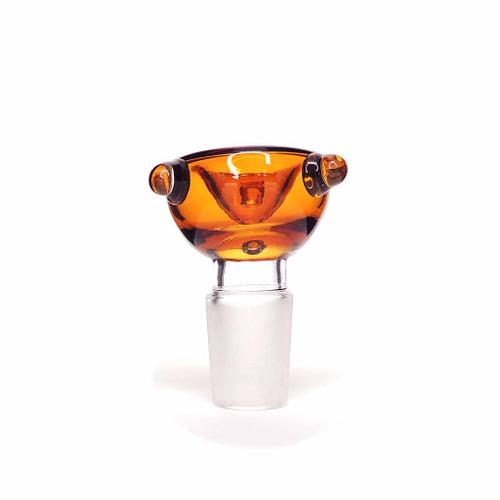 Bubble Glass Bowl - 19mm - Assorted Colors UNS Wholesale Smoke Shop Distributor Head Shop Novelty Supplies Glass Bowl Slide Distributor Glass Water Pipe Distributor