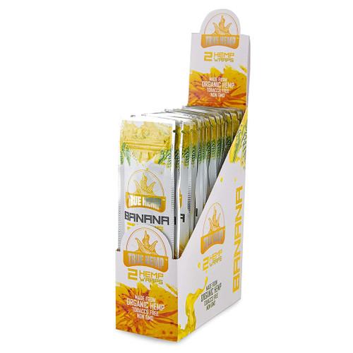 True Hemp - Banana, hemp wrap display for retail stores