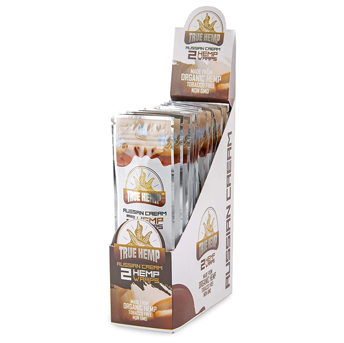 True Hemp - Russian Cream, hemp wrap display for retail stores