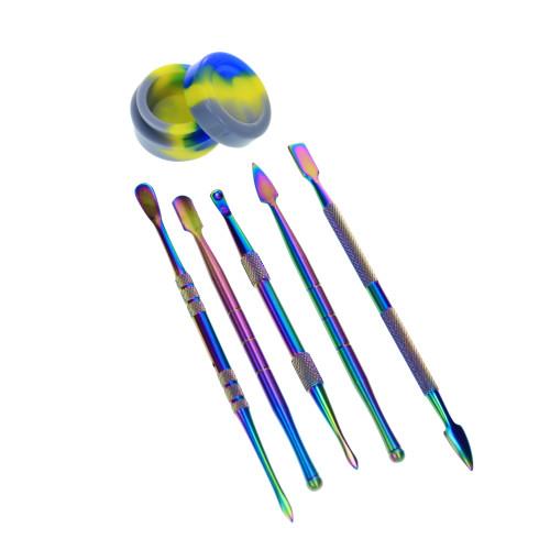 Dab Tool Set w/ Case - Rainbow