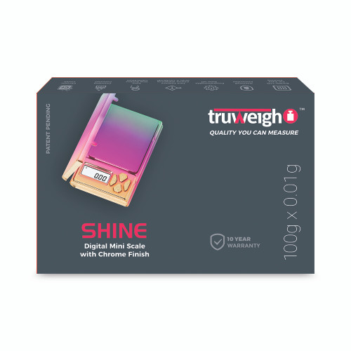 Truweigh Shine Scale - 100g x 0.01g - Rainbow