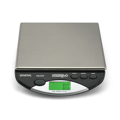 Truweigh General Compact Bench Scale - 3000g x 0.1g - Black