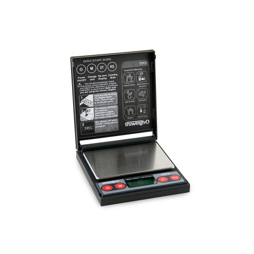 Truweigh Note Digital Mini Scale - 100g x 0.01g - Black