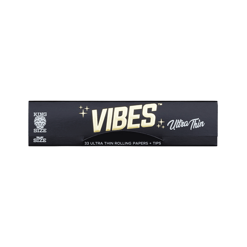 Vibes Ultra Thin Papers - King Size Slim + Tips