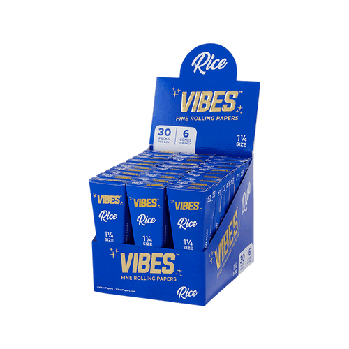 Vibes Rice Cones Display - 1.25