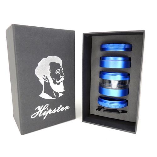 50mm Hipster 4 Part Breakdown Grinder - Blue in gift box
