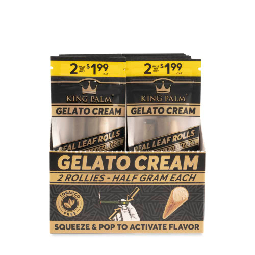 King Palm Rollies 2pk - Gelato Cream - Display of 20