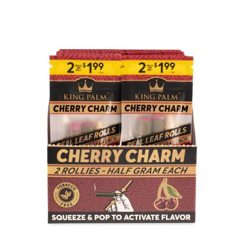 King Palm Rollies 2pk - Cherry Charm - Display of 20