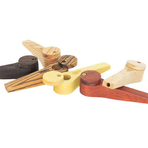 Bearded Exotic Wood Pipe HP-2 with Lid - Assorted