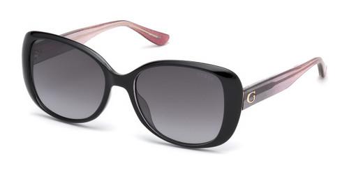 01B-Shiny Black/Gradient Smoke Guess GU7554 Sunglasses.