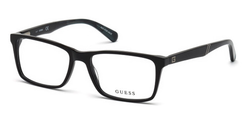 001-Shiny Black Guess GU1954 Eyeglasses.