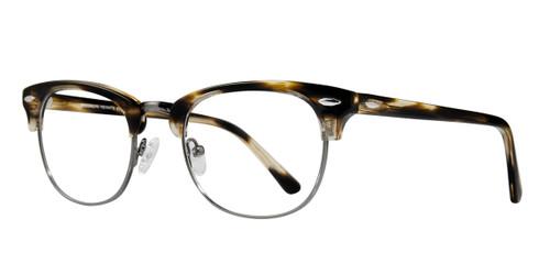 Amber Gun Brooklyn Clubster Eyeglasses.