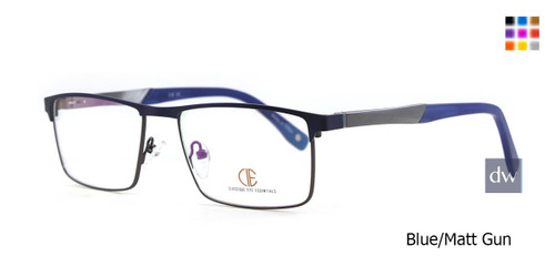 Blue/Matt Gun CIE SEC129 Eyeglasses.