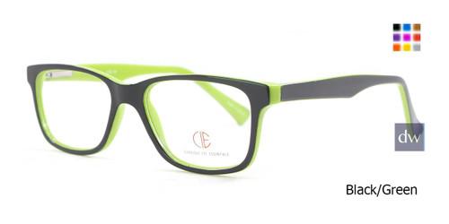 Black/Green CIE SEC501 Eyeglasses -Teenager.