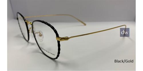 Black/Gold Zupa Ztar Zz 5442B Eyeglasses.