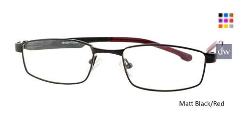 Matte Black/Red Body Glove BB130 Eyeglasses