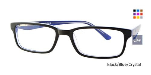 Black/Blue/Crystal Body Glove BB131 Eyeglasses