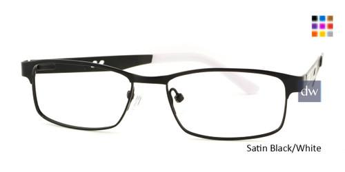 Satin Black/White Body Glove BB142 Eyeglasses