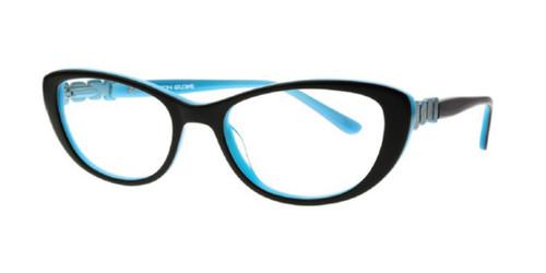 Black/Teal Body Glove BG803 Eyeglasses - Teenager