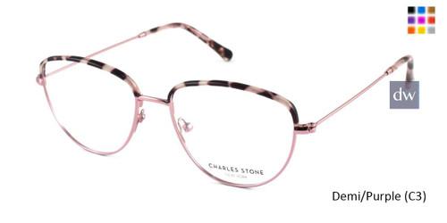 Demi/Purple (C3) William Morris Charles Stone NY CSNY30030 Eyeglasses