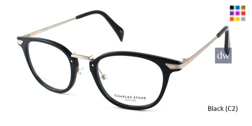 Black (C2) William Morris Charles Stone NY CSNY30033 Eyeglasses - Teenager