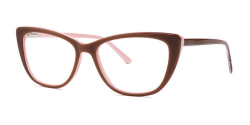 Shiny Brown/Pink Daniel Walters LG013 Eyeglasses.