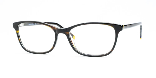 Shiny Brown Stripe/Brown Daniel Walters RGA019 Eyeglasses.