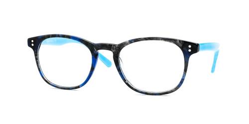 Shiny Blue Demi Daniel Walters RGA037 Eyeglasses - Teenager.