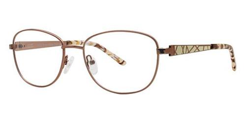 Brown/White Avalon 5073 Eyeglasses.