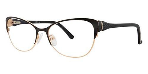 Black/Gold Avalon 5079 eyeglasses.