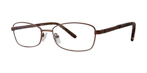 Brown Elan 3421 Eyeglasses.