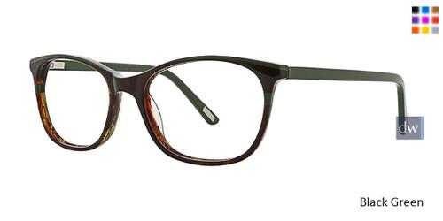 Black/Green Xoxo Trinidad Eyeglasses.