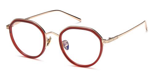 Red/Gold Capri Ago 1004 Eyeglasses - Teenager.