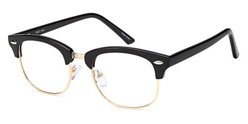 Black/Gold Capri Millennial Riley Eyeglasses - Teenager.