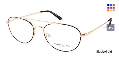 Black/Gold William Morris Charles Stone NY CSNY30050 Eyeglasses.