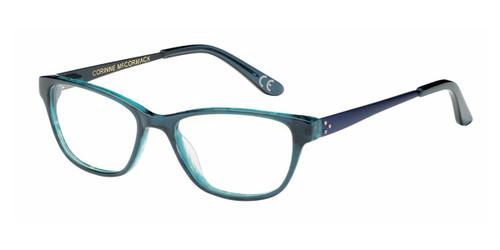 Teal Corinne McCormack Chatham Square Eyeglasses - Teenager