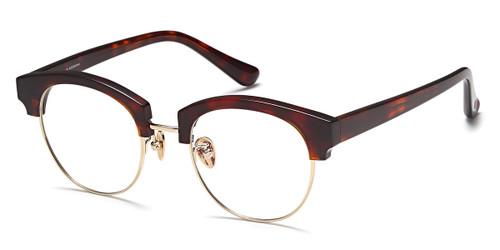 Tortoise/Gold Capri AGO PF80001 Eyeglasses - Teenager