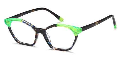 Blue Marble/Green Capri Menizzi M4049 Eyeglasses.