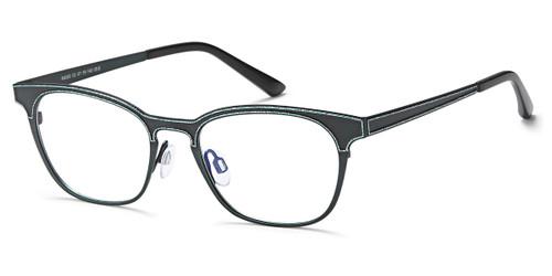 Antique Green/Turquoise Capri Menizzi M4060 Eyeglasses.