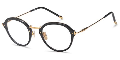 Black/Gold Capri Menizzi M4057 Eyeglasses - Teenager.