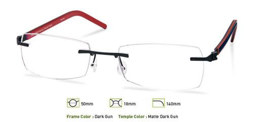 Dark Gunmetal Free-Form FFA964 Eyeglasses