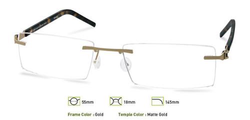 Gold Free-Form FFA966 Eyeglasses