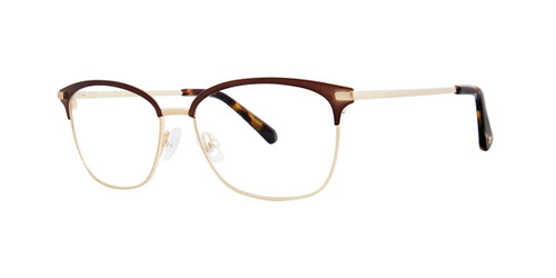 Antique Gold Zac Posen Ryder Eyeglasses.