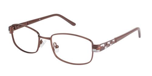 Brown/Brown (c02) C By L'Amy 521 Eyeglasses.