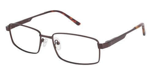 Brown/Brown (c01) C By L'Amy 617 Eyeglasses.